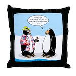 Penguin Goofball Throw Pillow