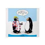 Penguin Goofball Throw Blanket