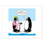 Penguin Goofball Small Poster