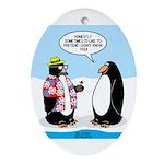 Penguin Goofball Oval Ornament