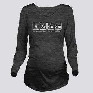 Sarcasm Long Sleeve Maternity T-Shirt