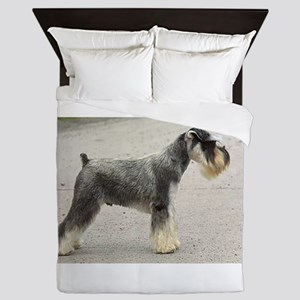 miniature schnauzer full Queen Duvet