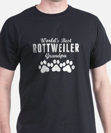 World's Best Rottweiler Grandpa T-Shirt