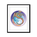 Magic Moon Dragon Framed Panel Print