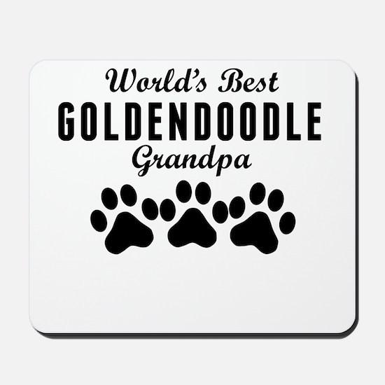 World's Best Goldendoodle Grandpa Mousepad