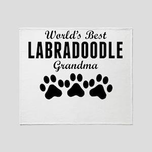 World's Best Labradoodle Grandma Throw Blanket