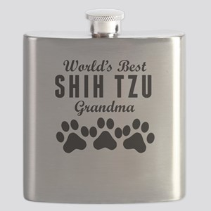World's Best Shih Tzu Grandma Flask