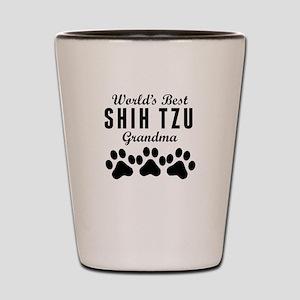 World's Best Shih Tzu Grandma Shot Glass