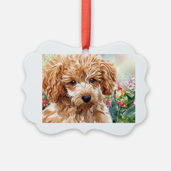 Poodle Painting Ornament