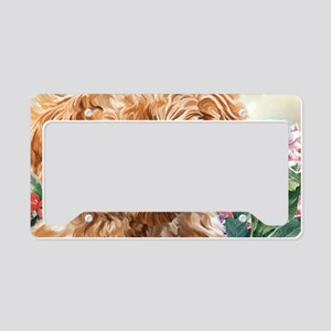 Poodle Painting License Plate Holder