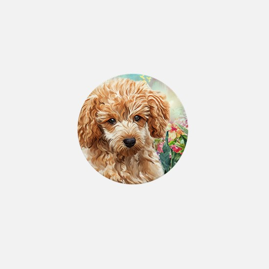 Poodle Painting Mini Button
