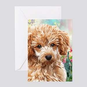 Poodle Painting Greeting Cards