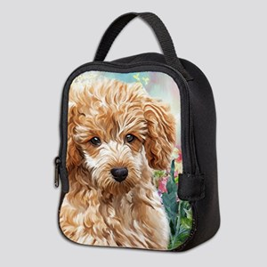 Poodle Painting Neoprene Lunch Bag