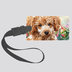 Poodle Painting Luggage Tag