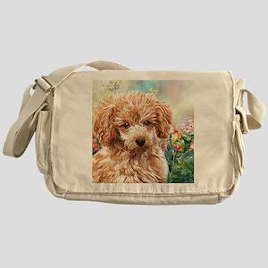 Poodle Painting Messenger Bag