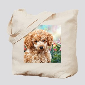 Poodle Painting Tote Bag