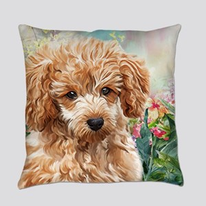 Poodle Painting Everyday Pillow