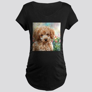 Poodle Painting Maternity T-Shirt