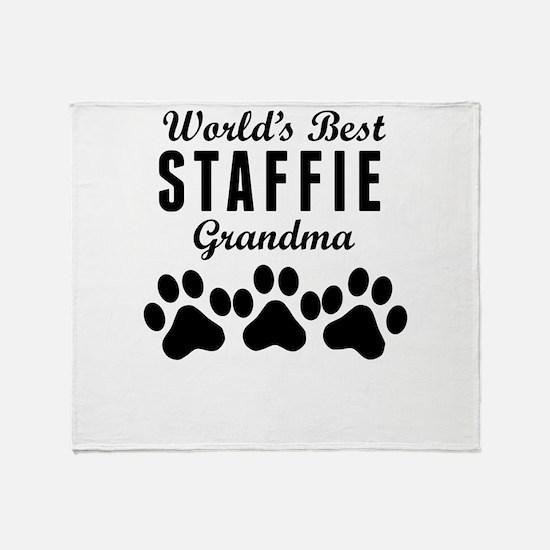 World's Best Staffie Grandma Throw Blanket