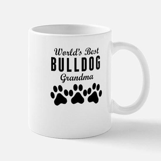 World's Best Bulldog Grandma Mugs