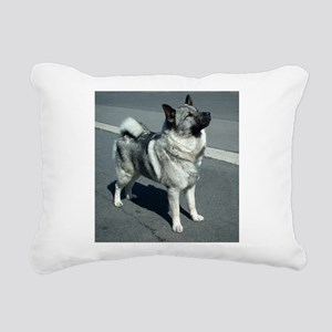 norwegian elkhound full 5 Rectangular Canvas Pillo