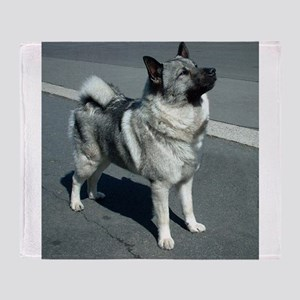 norwegian elkhound full 5 Throw Blanket