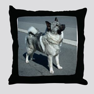 norwegian elkhound full 5 Throw Pillow