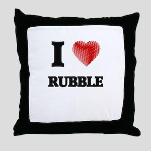 I Love Rubble Throw Pillow