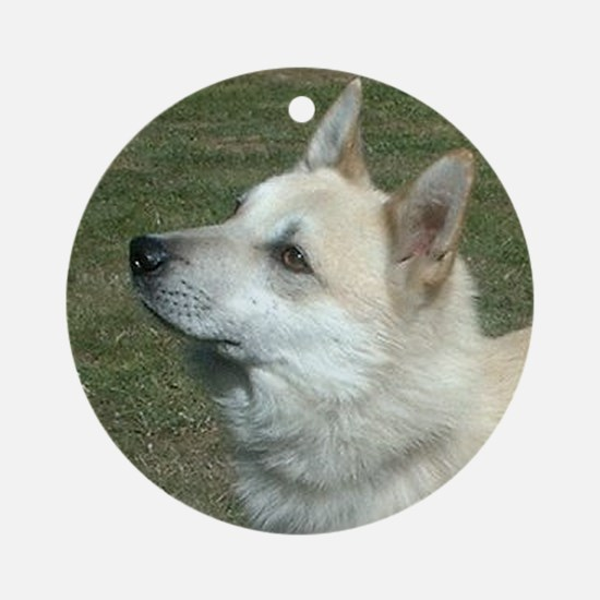 norwegian buhund Round Ornament