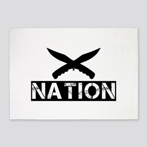 crossed knives nation 5'x7'Area Rug