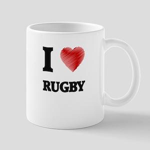 I Love Rugby Mugs