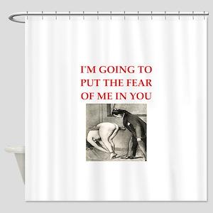spanking joke Shower Curtain