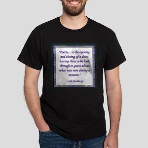 Sandburg Quote Ash Grey T-Shirt