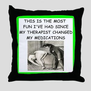 spanking joke Throw Pillow