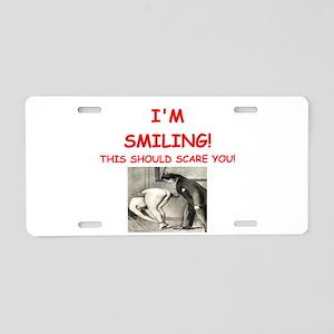 spanking joke Aluminum License Plate