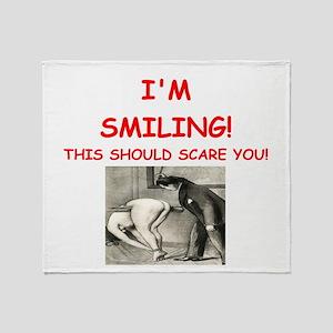 spanking joke Throw Blanket