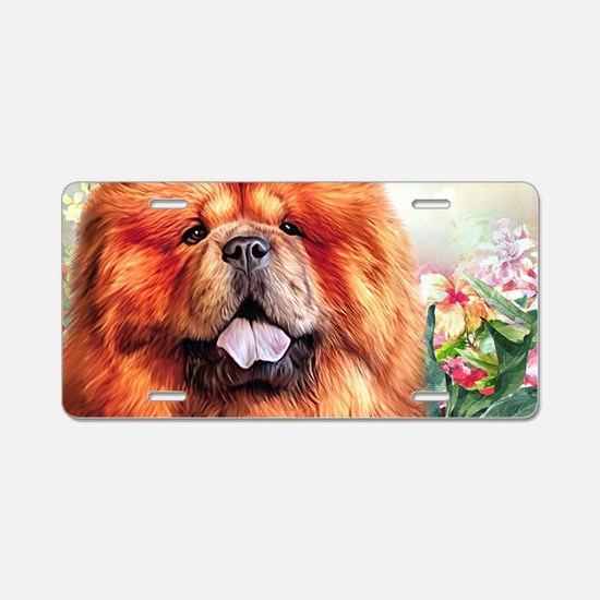 Chow Chow Painting Aluminum License Plate