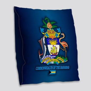 Bahamas Coa Burlap Throw Pillow