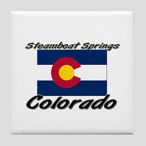 Steamboat Springs Colorado Tile Coaster