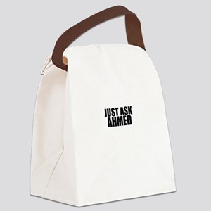 Just ask AHMED Canvas Lunch Bag