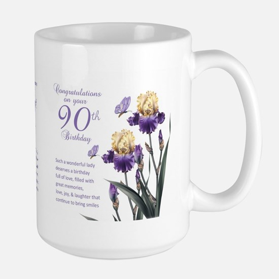 90th Birthday Lily Gift Mug Mugs
