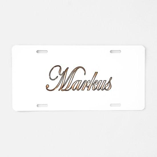 Gold Markus Aluminum License Plate