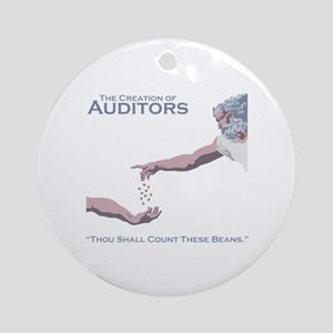 The Creation of Auditors Round Ornament