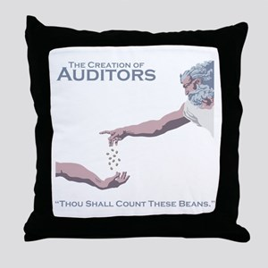 The Creation of Auditors Throw Pillow