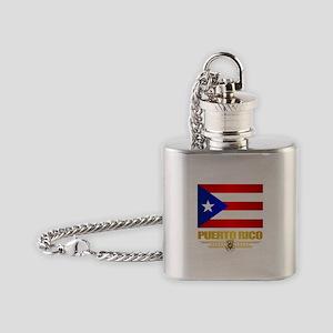 Puerto Rico Flask Necklace