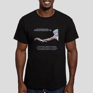 The Creation of Machin Men's Fitted T-Shirt (dark)