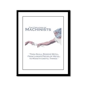 The Creation of Machinists Framed Panel Print