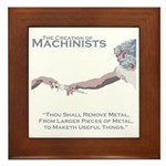 The Creation of Machinists Framed Tile