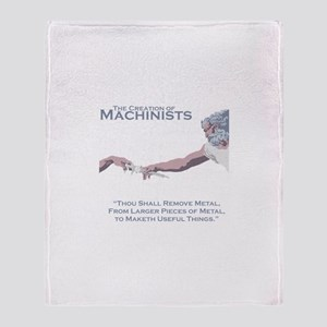 The Creation of Machinists Throw Blanket