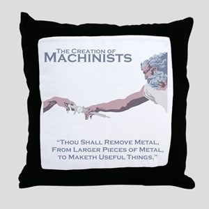 The Creation of Machinists Throw Pillow